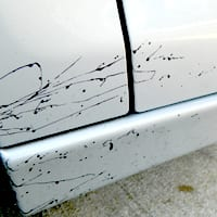 Tar on Car Paint Before