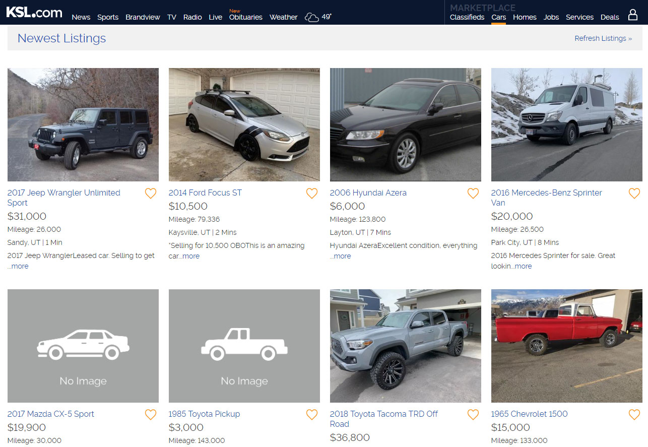 ksl.com cars for sale