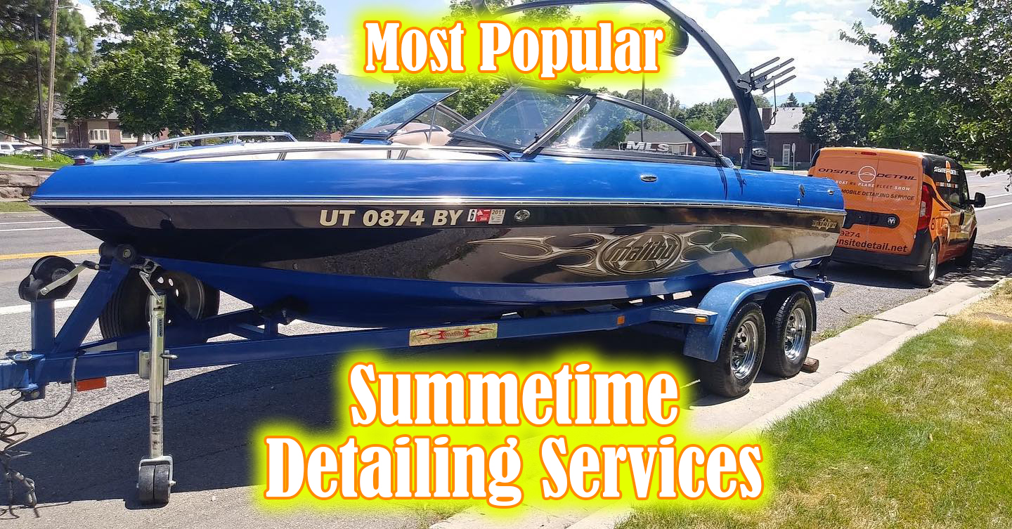 Most popular detailing services this Summer