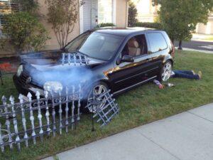 Car as Lawn Decoration