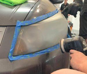 oxidized headlight